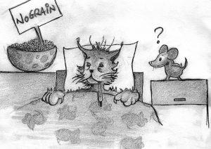 Les chats souffrant de MICI ou d'allergie ne sont finalement améliorés que par l'arrêt de toute nourriture industrielle, qu'elle soit sèche ou humide.